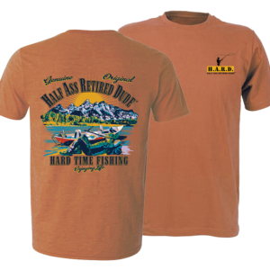 Drift Boat Daze Yam colored fly fishing t-shirt