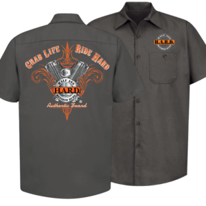 Bad Ass Biker Mechanic Charcoal shirt for men