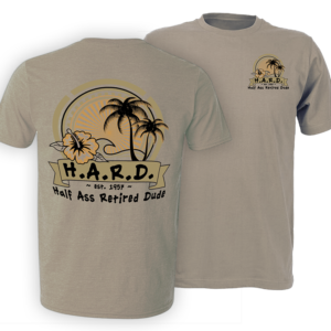 Chillin' Palm Khaki colored t shirt