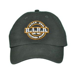 H.A.R.D. Logo Hat Black (Orange)