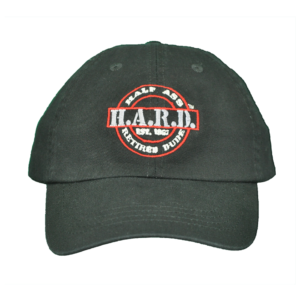 H.A.R.D. Logo Hat Black (Red) tshirt