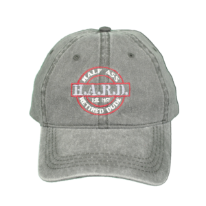 H.A.R.D. Logo Hat Grey (Red)