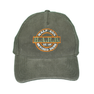 H.A.R.D. Logo Hat Olive (Orange)