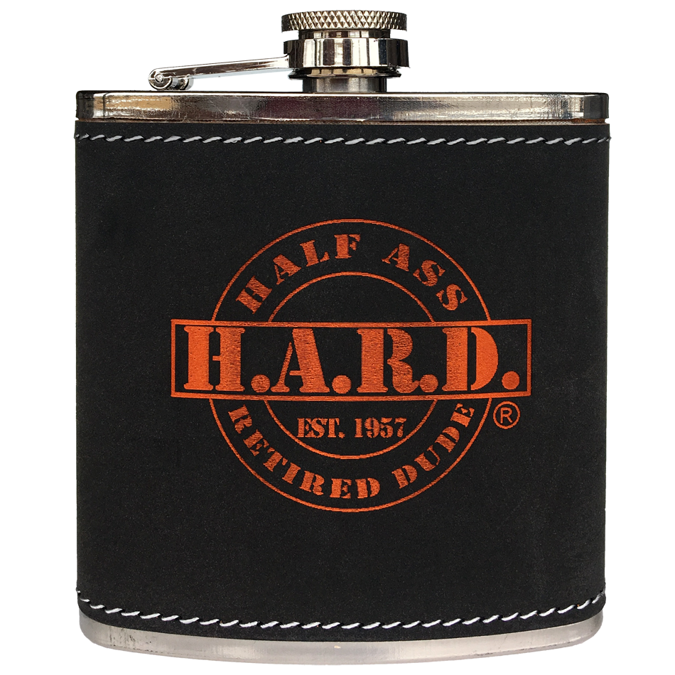 stainless steel flask with leather wrap