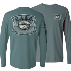 Mountain image Long Sleeve Blue Spruce shirt