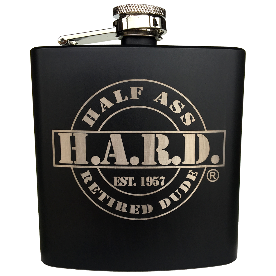 stainless steel flask painted black