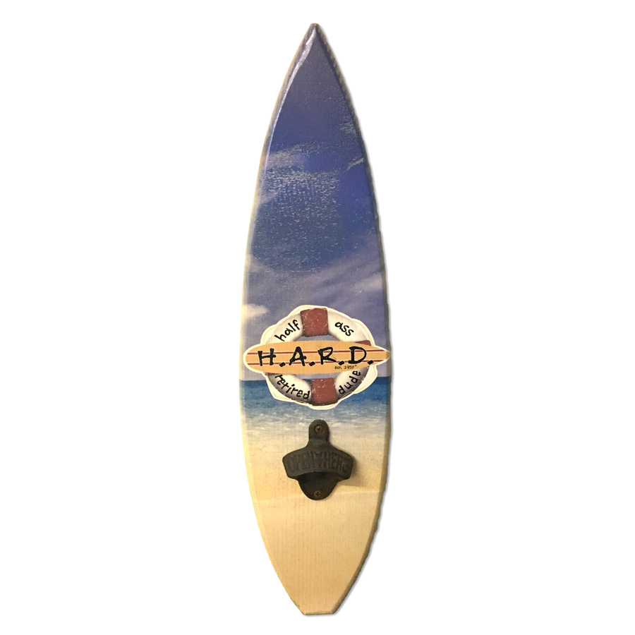 Wood Surfboard Bottle Opener
