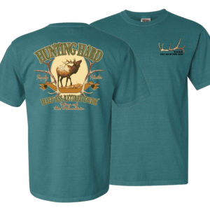 hunting elk image half ass retired dude emerald colored men's t-shirt