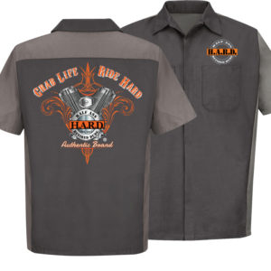 Bad Ass Biker Mechanic Charcoal Gray