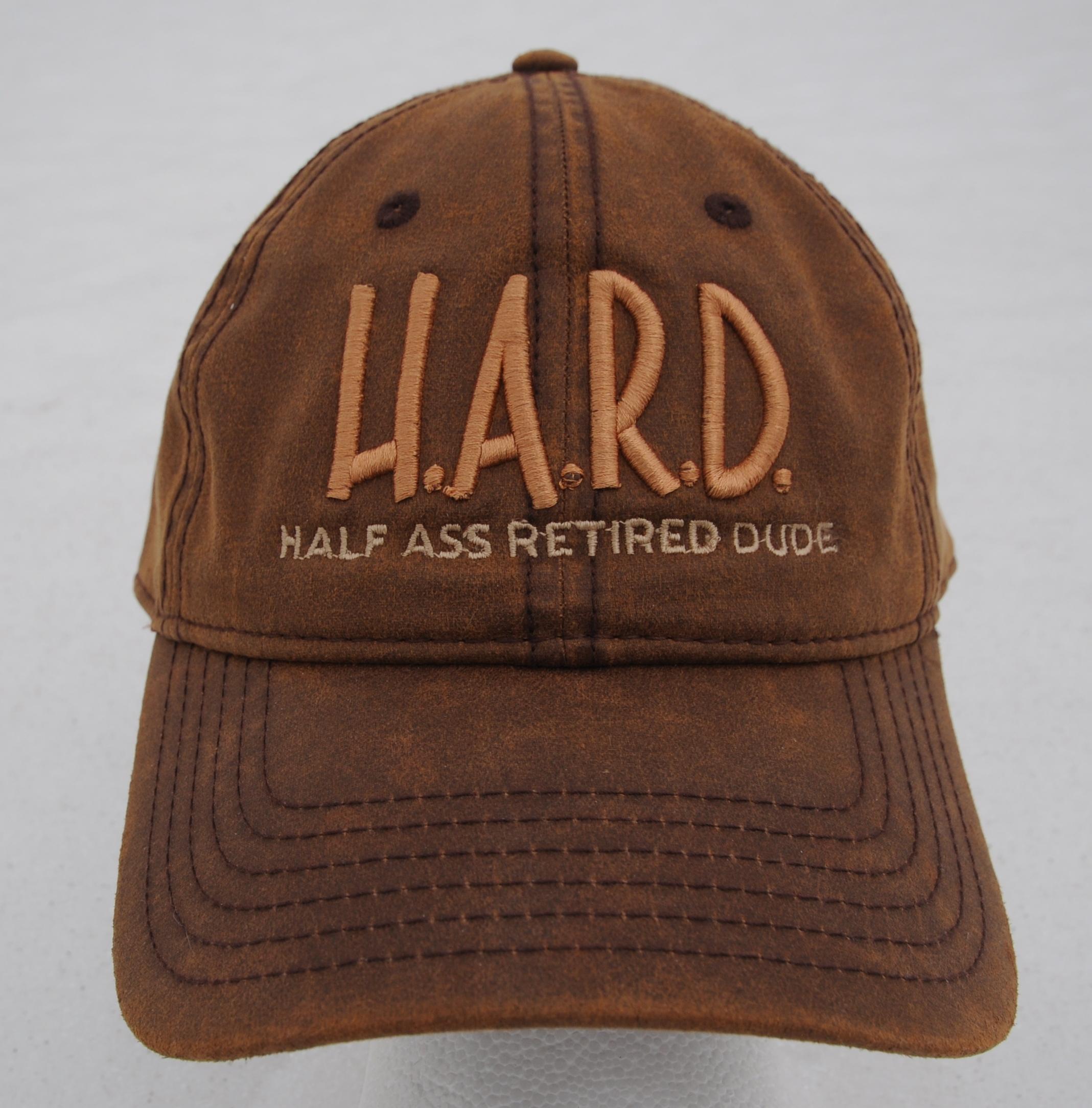 half ass retired dude brown hat