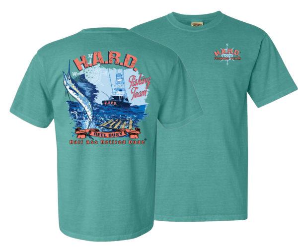 half ass retired dude green fishing team men'ss t-shirt