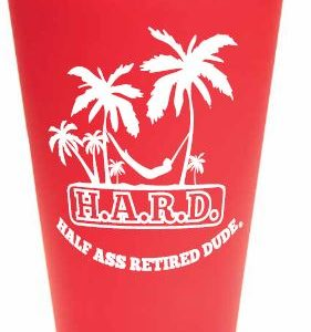 half ass retired dude red mug